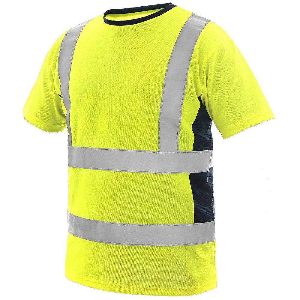 Canis Pánske výstražné tričko EXETER - Žlutá / tmavě modrá | M