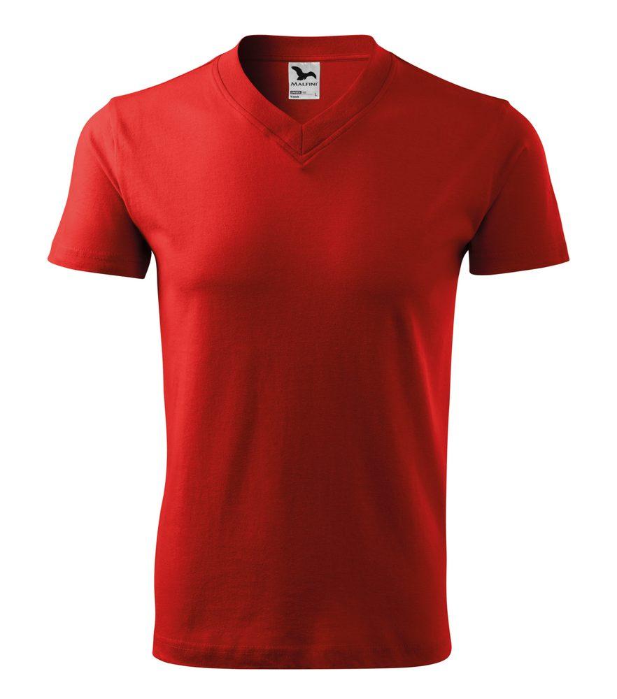 Adler Tričko V-neck - Červená | S