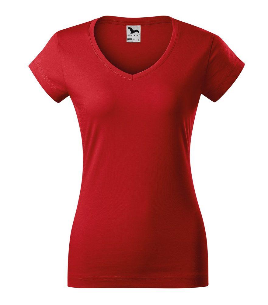 Adler Dámske tričko Fit V-neck - Červená | S