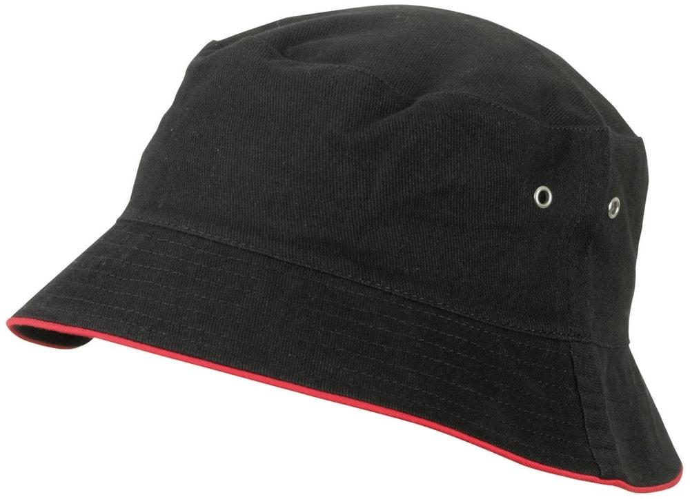 Dětský klobouček MB013 - Černá / červená | 54 cm