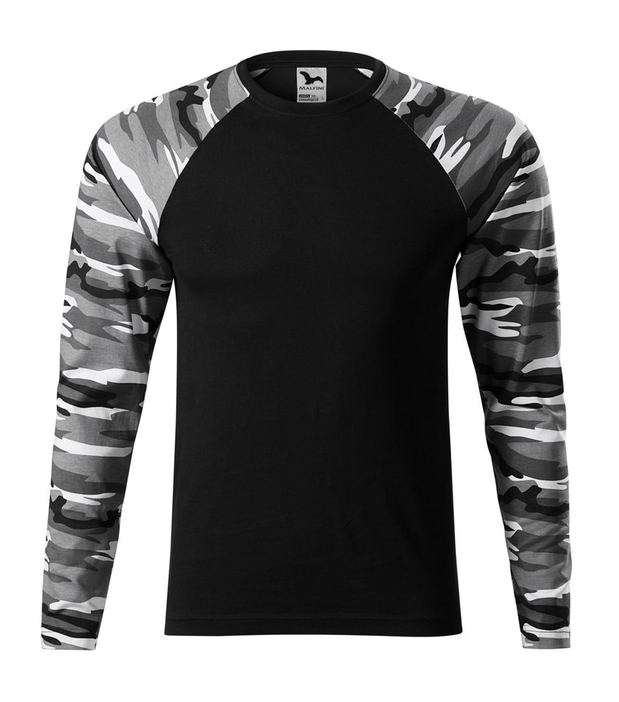 Adler Maskáčové tričko s dlhým rukávom Camouflage LS - Maskáčová šedá | XXXL