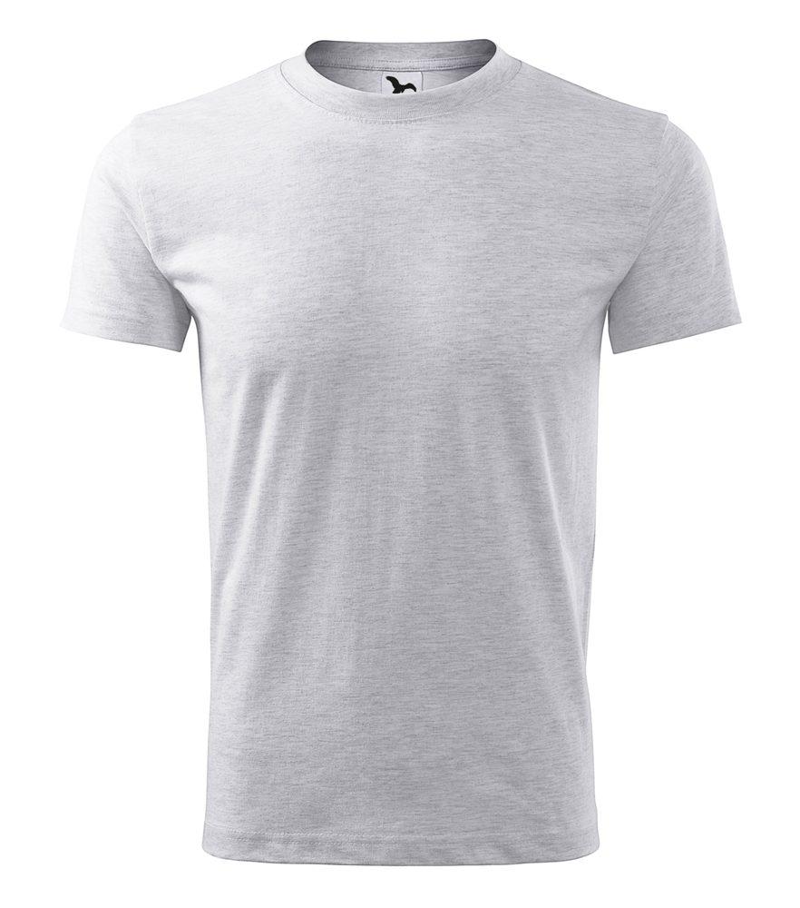 Adler (MALFINI) Pánske tričko Classic New - Světle šedý melír | L