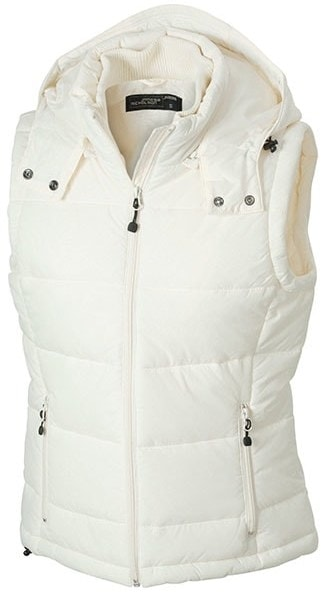 James & Nicholson Dámska zimná vesta s kapucňou JN1005 - Přírodní | XXL
