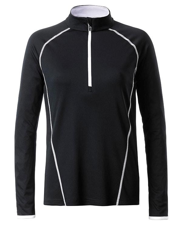 f860044688e7 Dámské funkční tričko s dlouhým rukávem JN497 - Černá   bílá