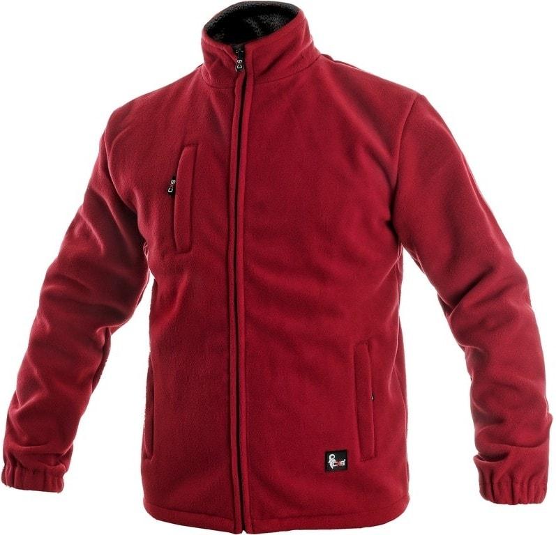 Canis Pánska fleecová bunda OTTAWA - Červená   XXXL
