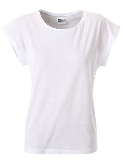 James & Nicholson Dámske ležérne tričko z biobavlny 8005 - Bílá | XL