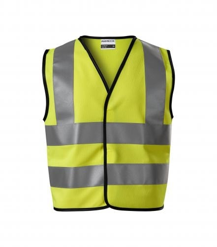 Dětská bezpečnostní vesta HV Bright - Reflexní žlutá | 116-140 cm (6-8 let)