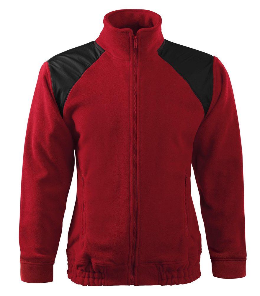 Adler (MALFINI) Fleecová mikina Jacket Hi-Q - Marlboro červená | XXXL