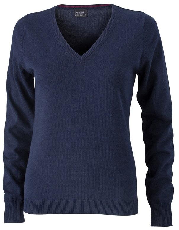 Dámský bavlněný svetr JN658 - Tmavě modrá | L