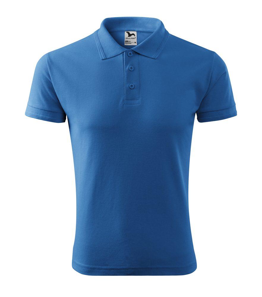 Adler Pánska polokošeľa Pique Polo - Azurově modrá | L