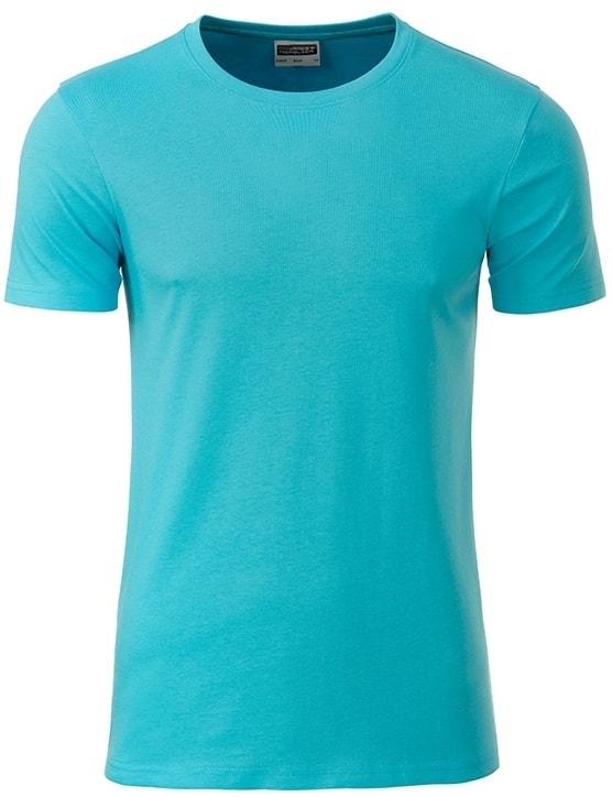 James & Nicholson Klasické pánske tričko z biobavlny 8008 - Pacific | XXL