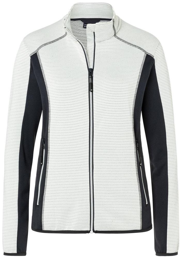James & Nicholson Dámska strečová fleecová mikina JN783 - Šedo-bílá / tmavě šedá | L