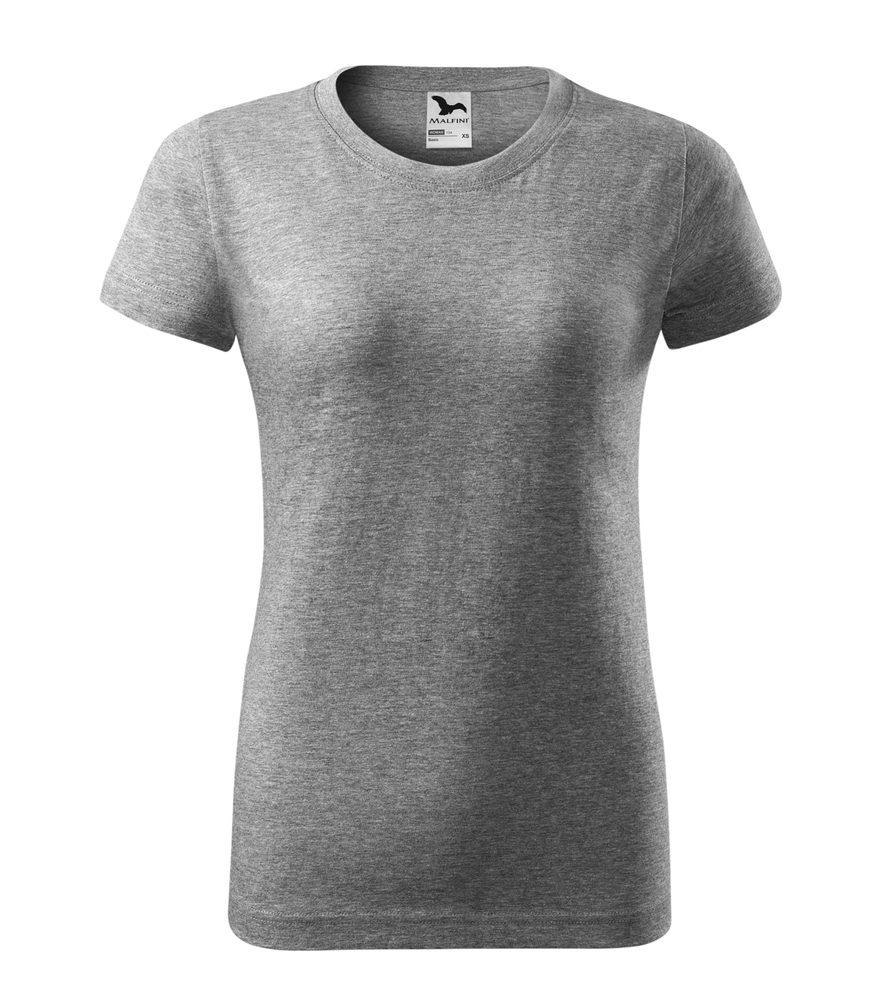 Adler Dámske tričko Basic - Tmavě šedý melír | XXL