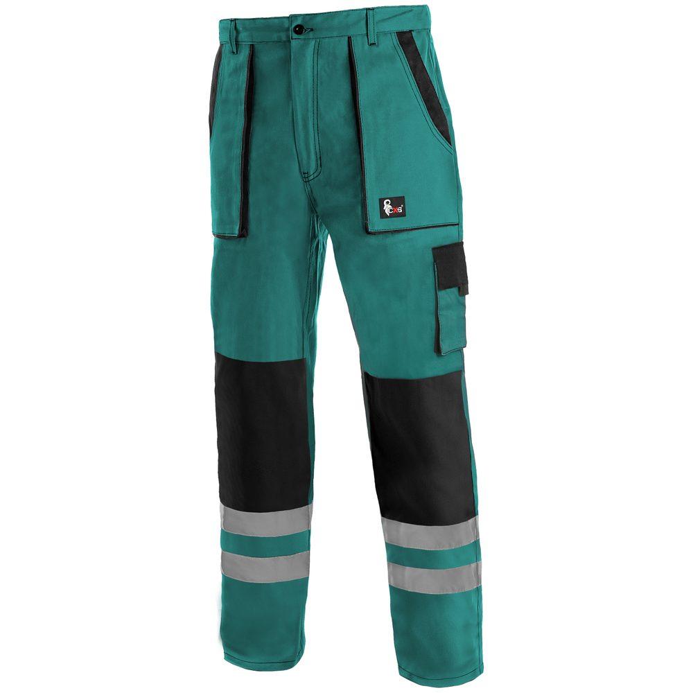 Canis Montérkové nohavice do pása CXS LUXY BRIGHT - Zelená / černá | 50