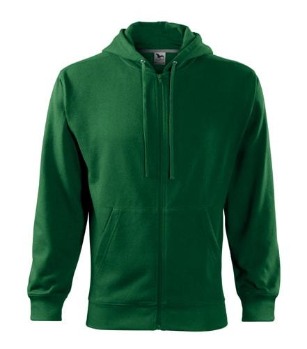 Adler Pánska mikina Trendy Zipper - Lahvově zelená   M