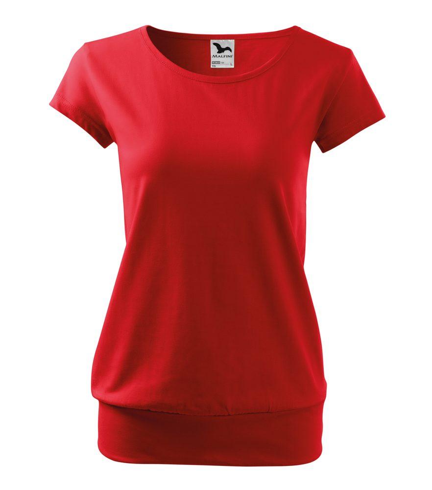 Adler (MALFINI) Dámske tričko City - Červená | L