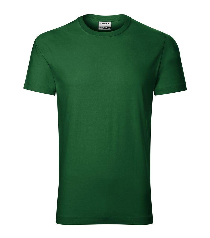 Adler Pánske tričko Resist heavy - Lahvově zelená | XL