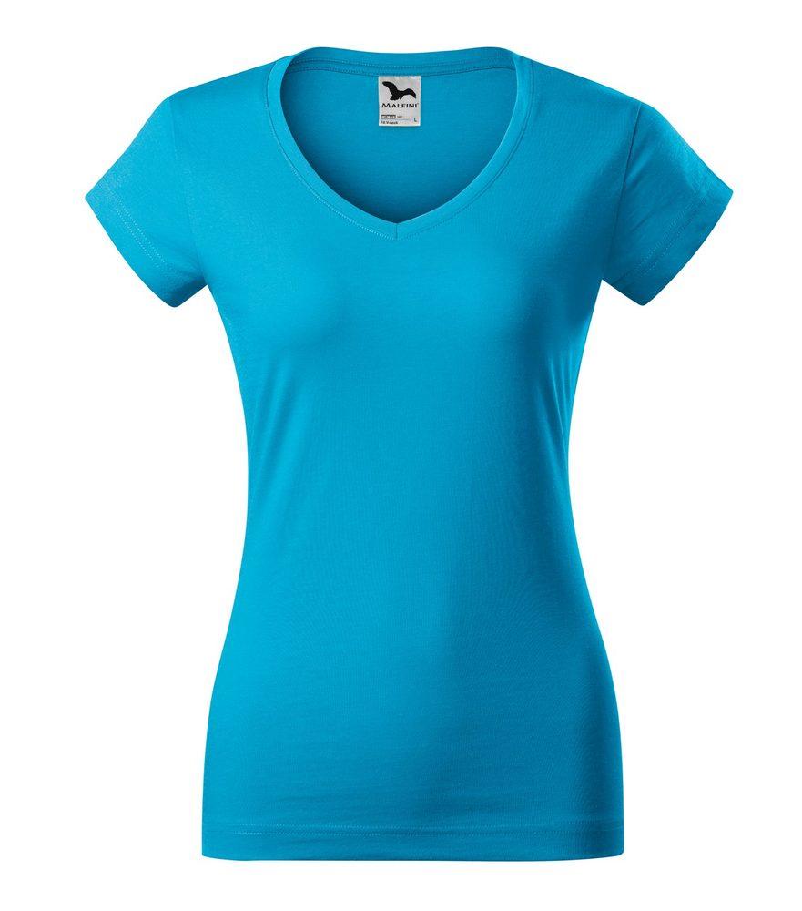 Adler Dámske tričko Fit V-neck - Tyrkysová | L