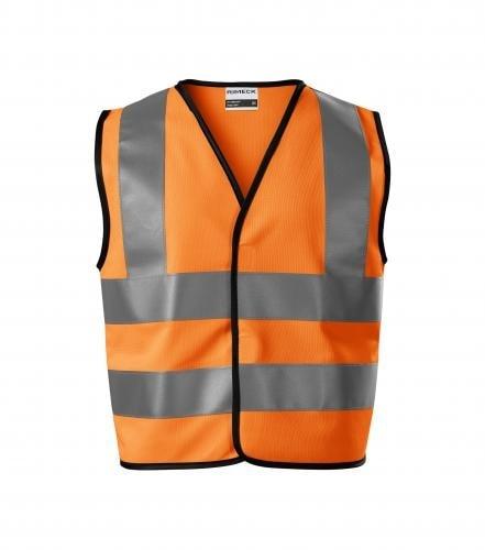 Dětská bezpečnostní vesta HV Bright - Reflexní oranžová | 116-140 cm (6-8 let)