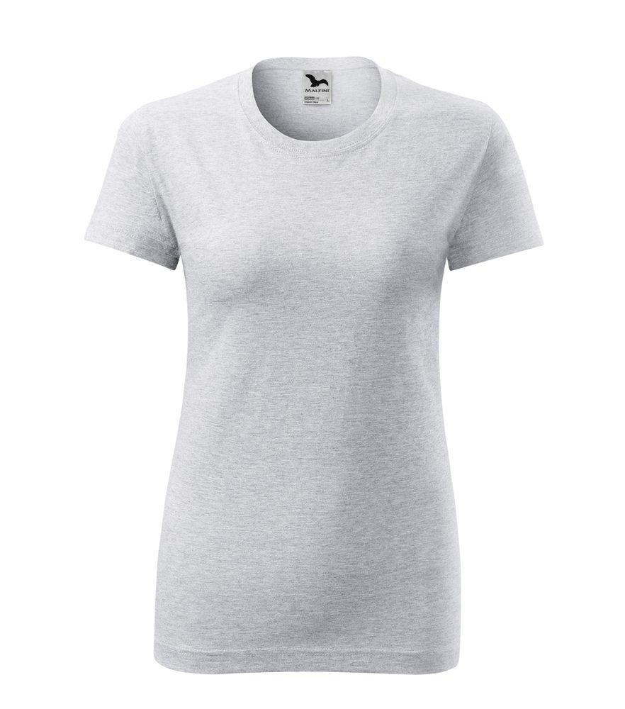 Adler Dámske tričko Classic New - Světle šedý melír | M