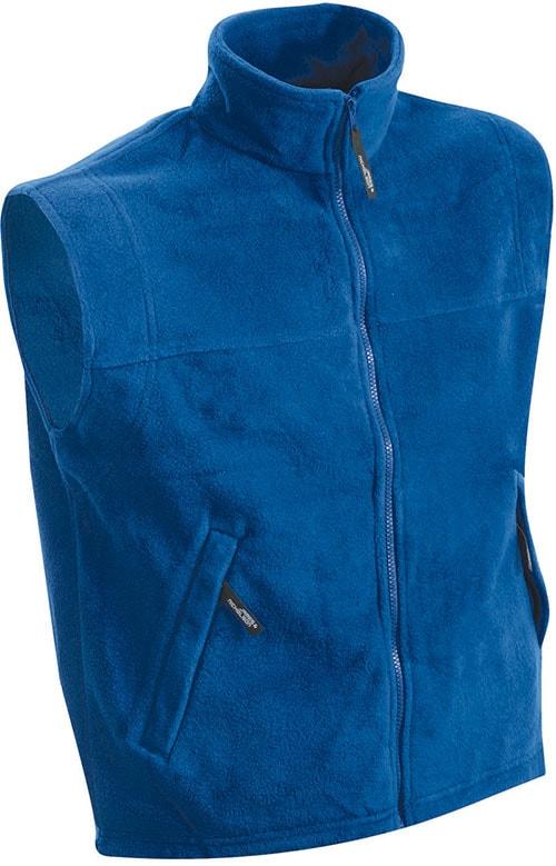 James & Nicholson Pánska fleecová vesta JN045 - Královská modrá | S