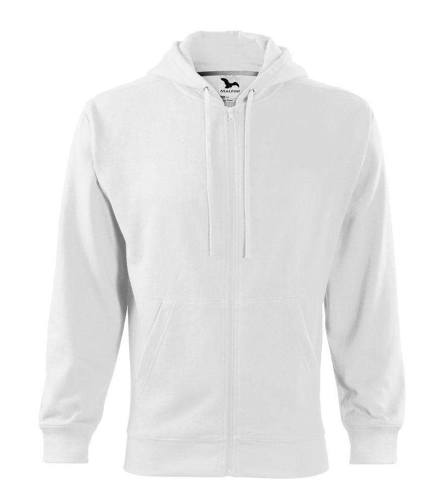 Adler (MALFINI) Pánská mikina Trendy Zipper - Bílá | L