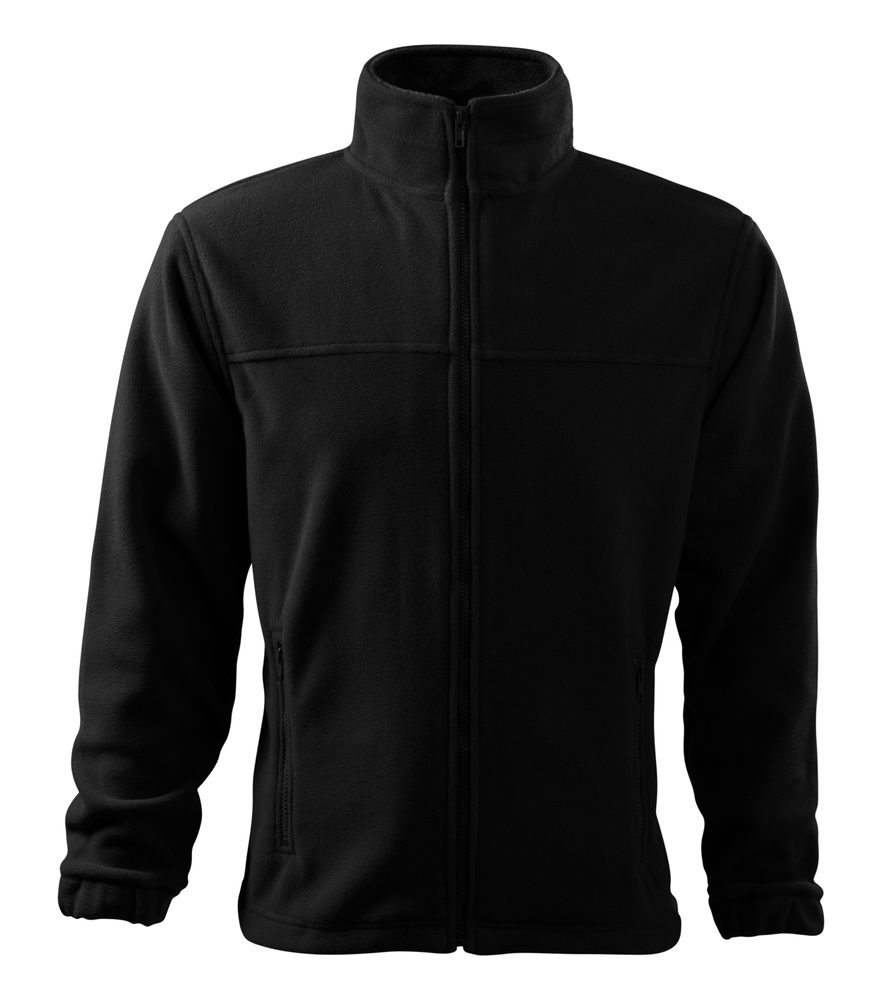 Adler (MALFINI) Pánska fleecová mikina Jacket - Černá | XXXXL