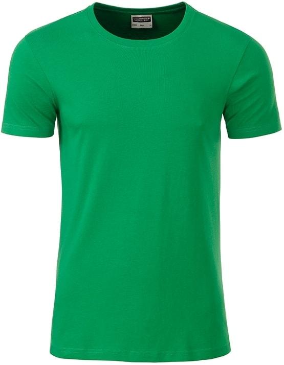 James & Nicholson Klasické pánske tričko z biobavlny 8008 - Kapradinová | XXL
