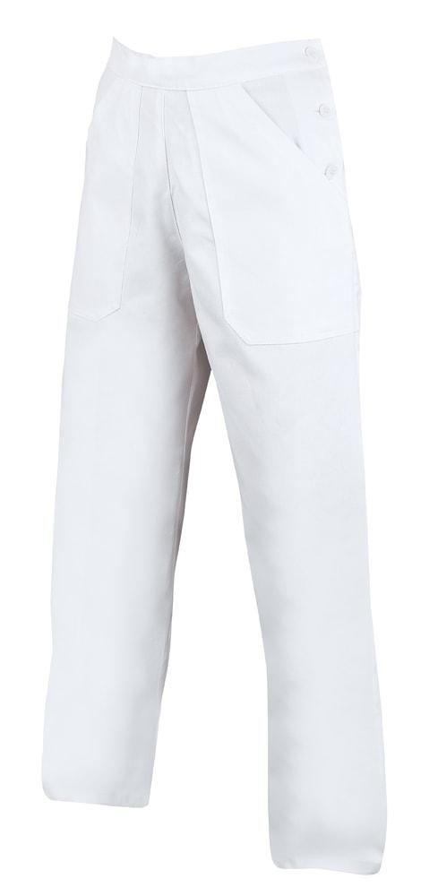 Ardon Dámske biele pracovné nohavice - 56
