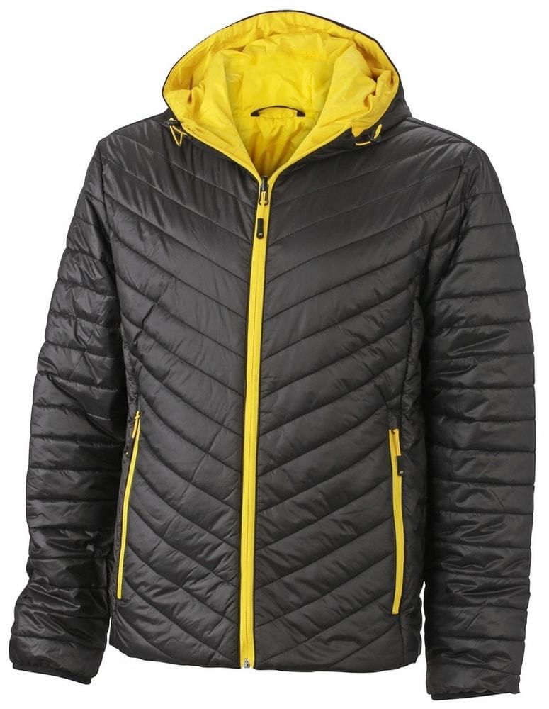 Lehká pánská oboustranná bunda JN1092 - Černá / žlutá   L