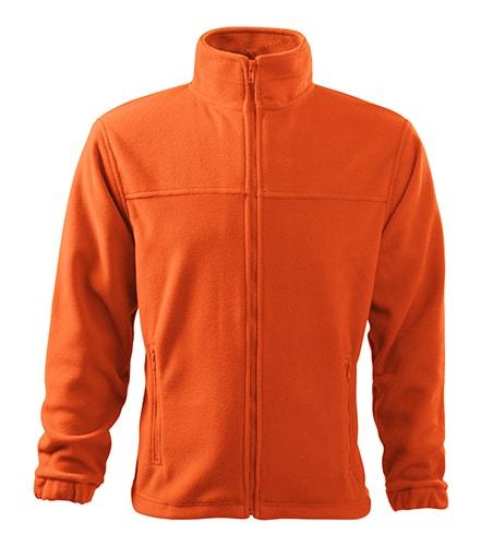 Adler Pánska fleecová mikina Jacket - Oranžová | L
