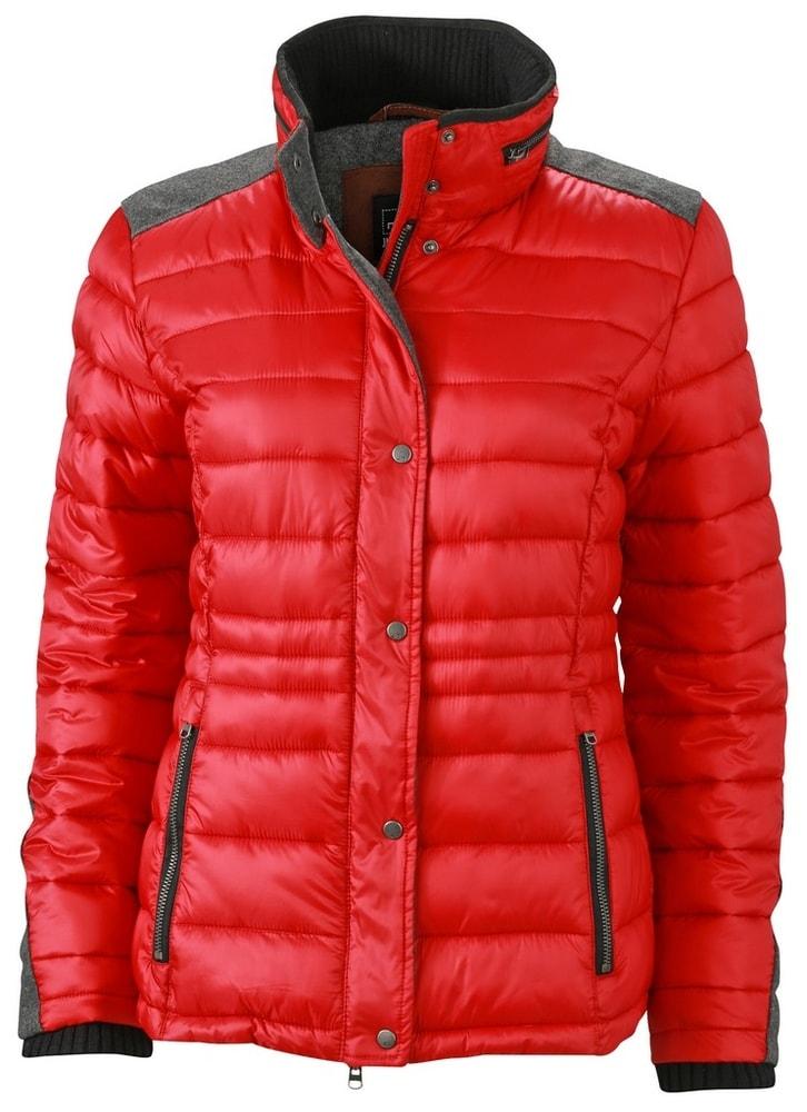 James & Nicholson Dámska zimná bunda JN1099 - Indická červená | S