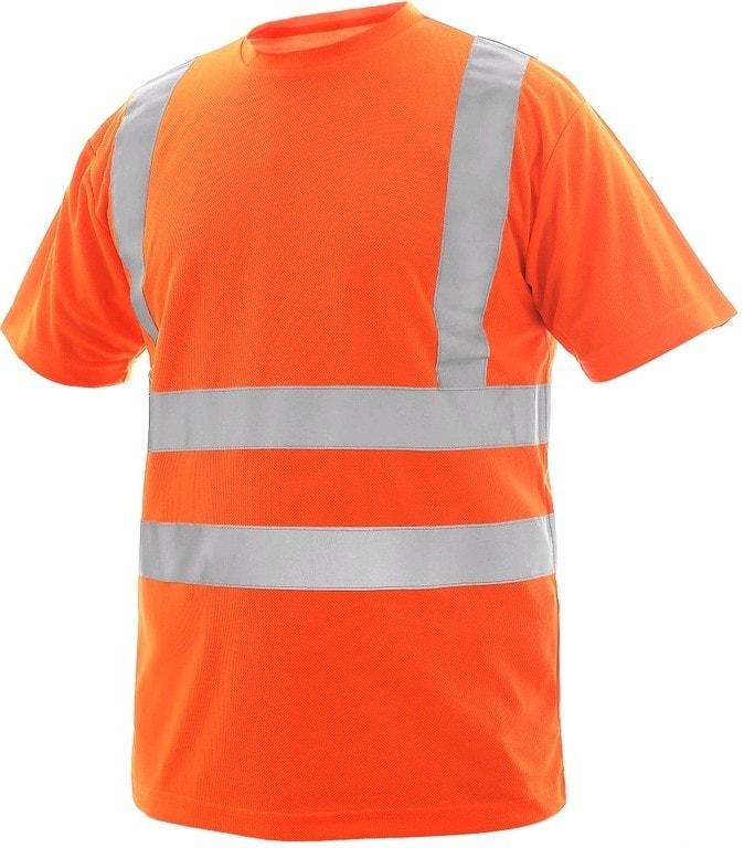 Canis Pánske výstražné tričko LIVERPOOL - Oranžová | M