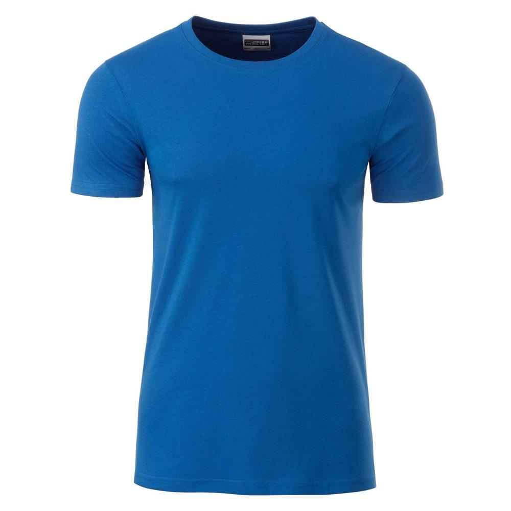 James & Nicholson Klasické pánske tričko z biobavlny 8008 - Královská modrá | XL