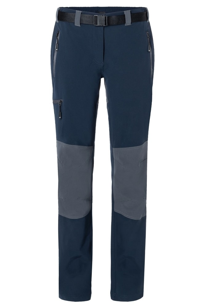 James & Nicholson Dámske trekingové nohavice JN1205 - Tmavě modrá / tmavě šedá | L