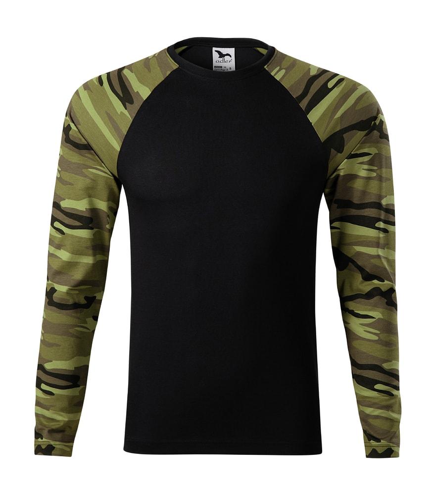79f9f2c9136e Maskáčové tričko s dlouhým rukávem Camouflage LS - Maskáčová zelená