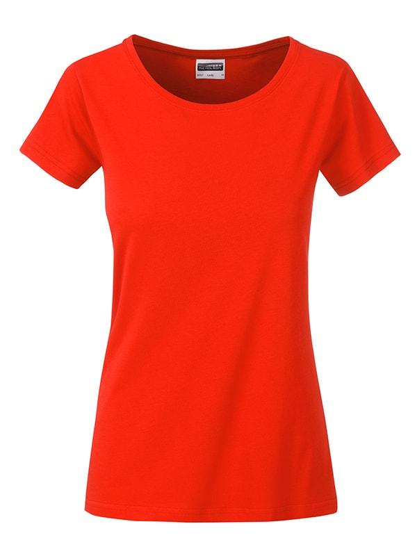James & Nicholson Klasické dámske tričko z biobavlny 8007 - Grenadina | XL
