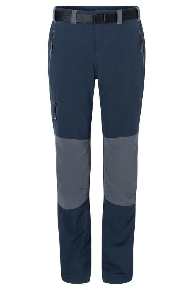 James & Nicholson Pánske trekingové nohavice JN1206 - Tmavě modrá / tmavě šedá   XXL