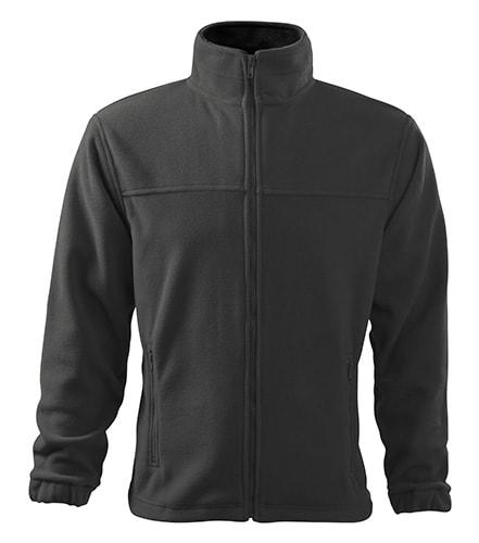 Pánská fleecová mikina Jacket - Ocelově šedá | S