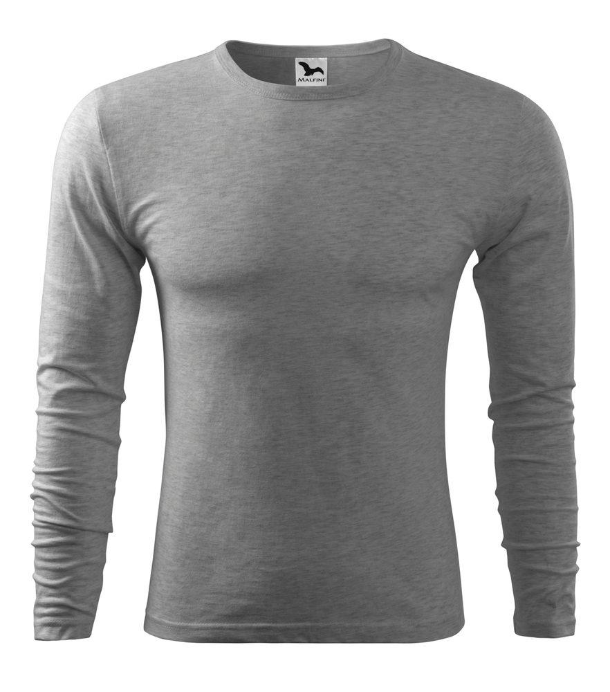 Adler Pánske tričko s dlhým rukávom Fit-T Long Sleeve - Tmavě šedý melír | L