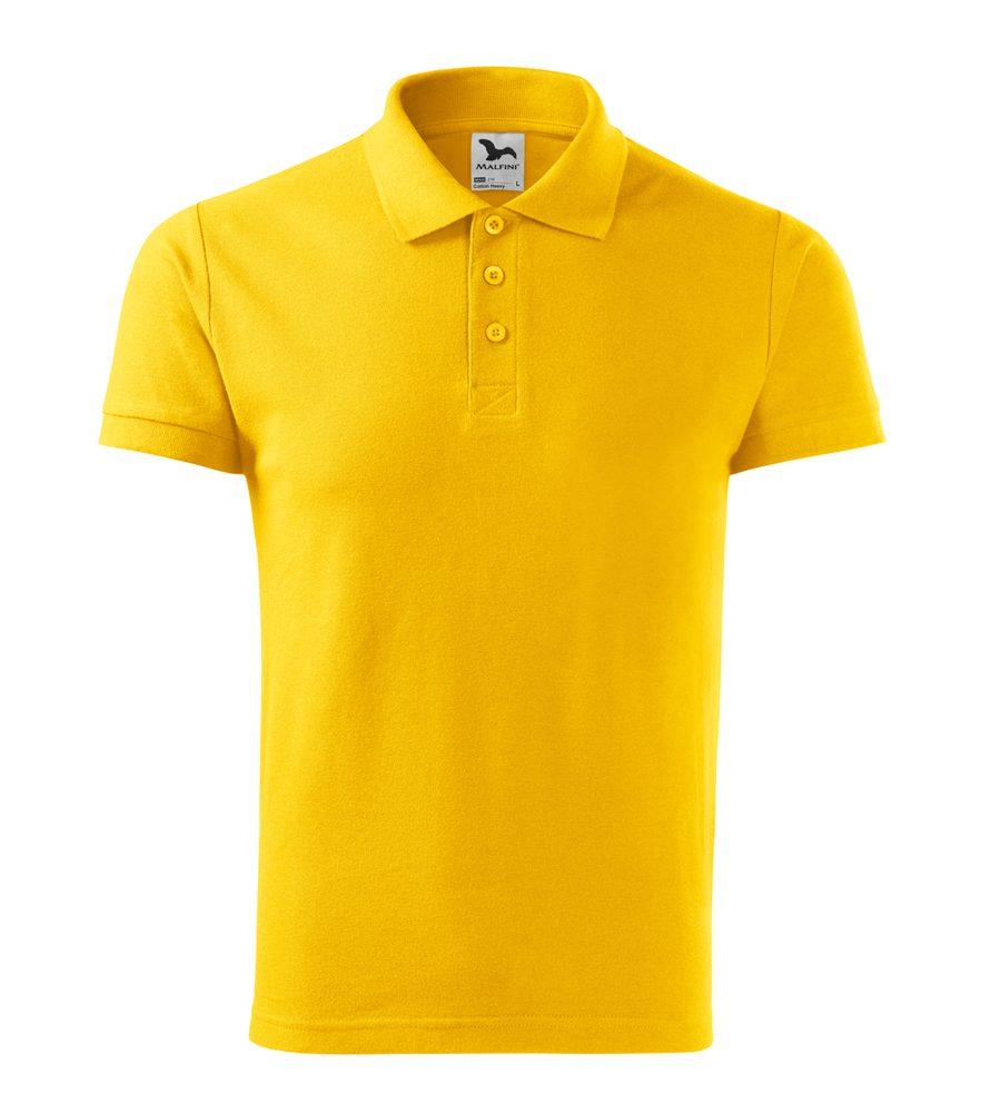 Adler (MALFINI) Pánska polokošeľa Cotton Heavy - Žlutá | M