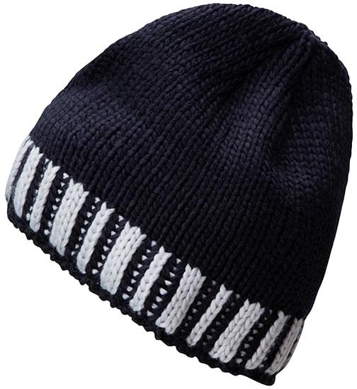 Myrtle Beach Pletená pánska zimná čiapka MB7106 - Tmavě modrá / stříbrná