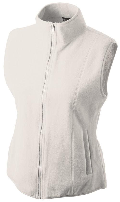 James & Nicholson Dámska fleecová vesta JN048 - Šedo-bílá | M