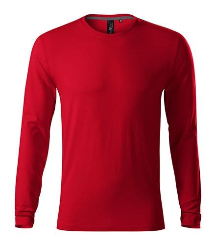 Adler Pánske tričko s dlhým rukávom Brave - Jasná červená | S