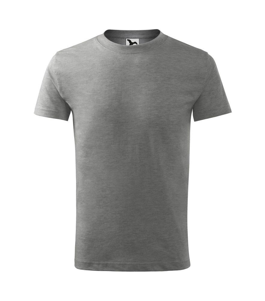 Adler (MALFINI) Detské tričko Basic - Tmavě šedý melír | 146 cm (10 let)