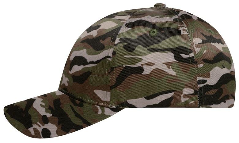 Maskáčová kšiltovka MB6227 - Olivová / černá