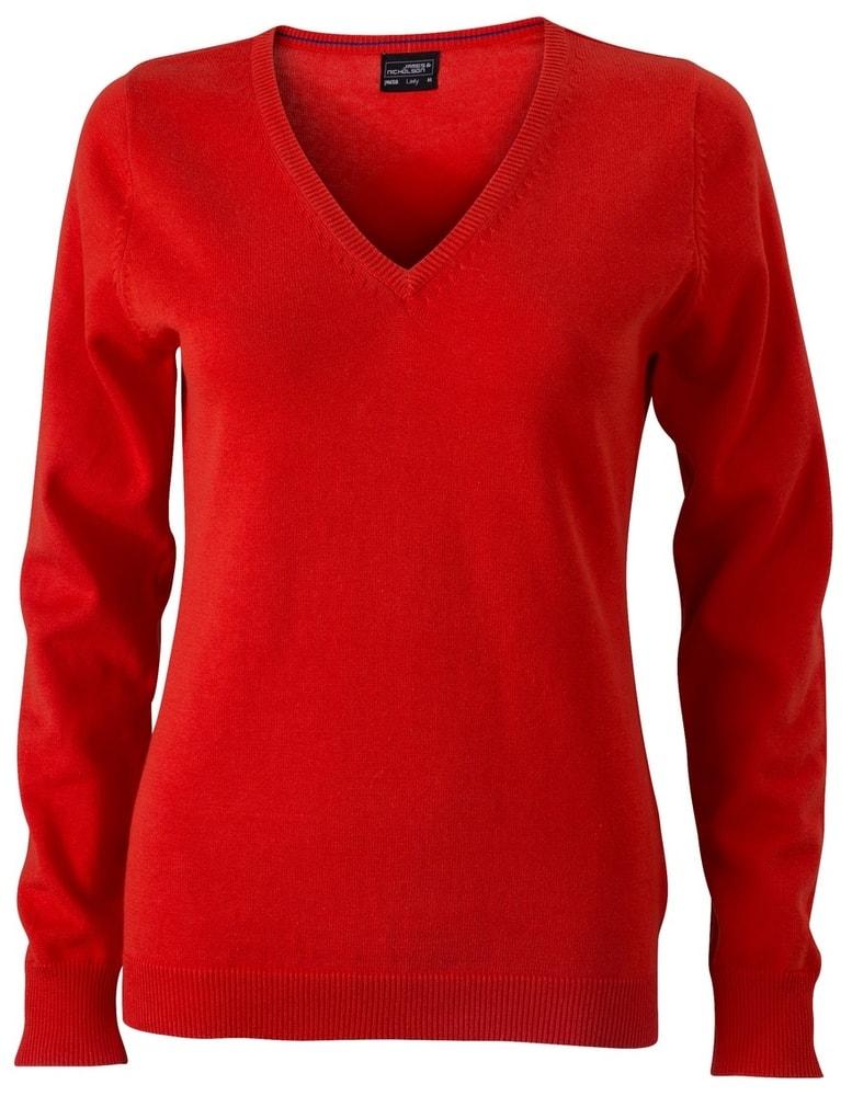 Dámský bavlněný svetr JN658 - Tmavě oranžová | XXL
