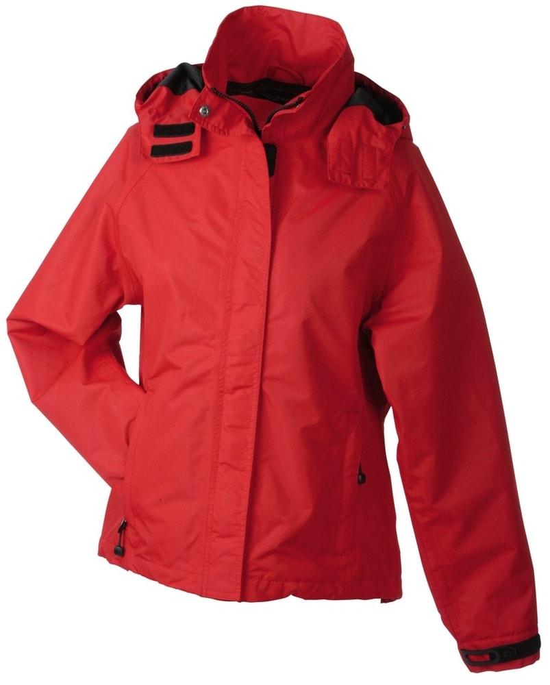 James & Nicholson Dámska outdoorová bunda JN1011 - Červená | XL