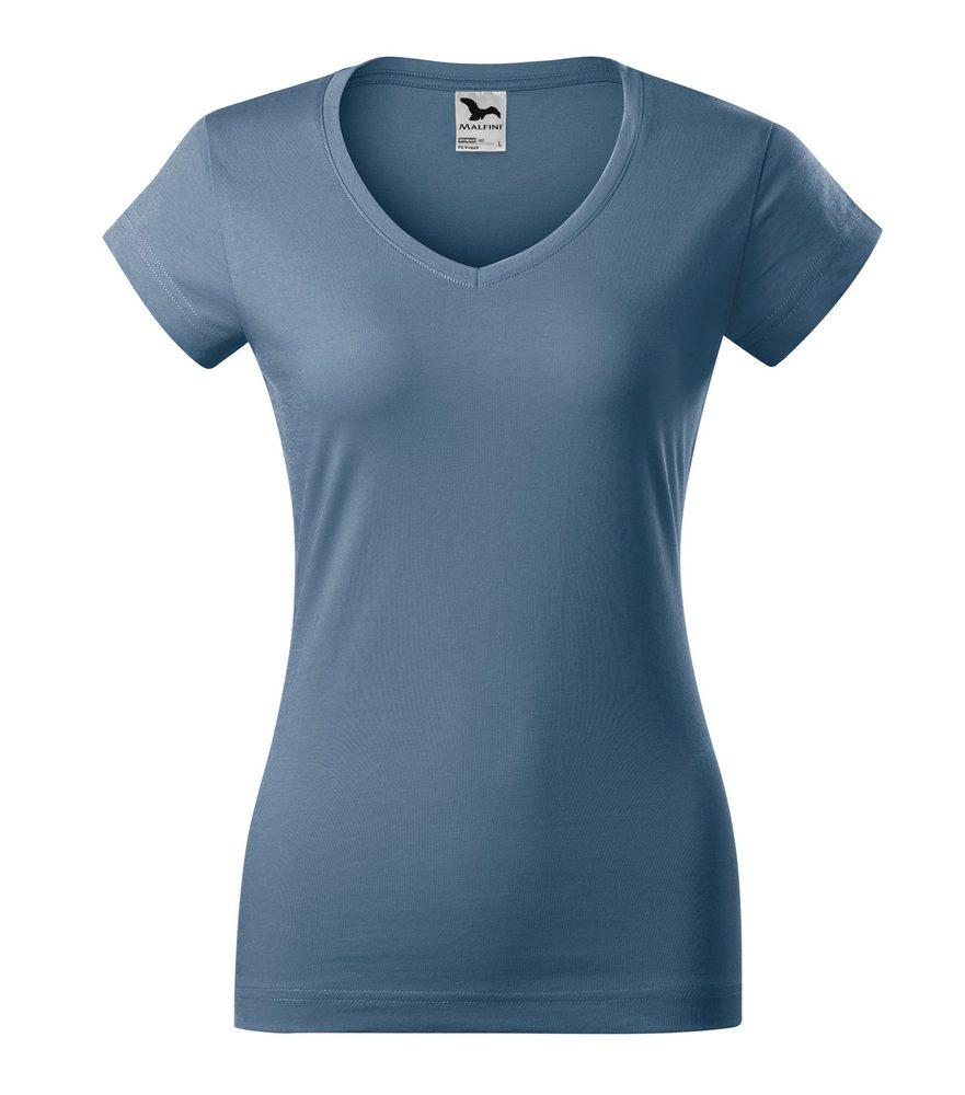 Adler Dámske tričko Fit V-neck - Denim | S