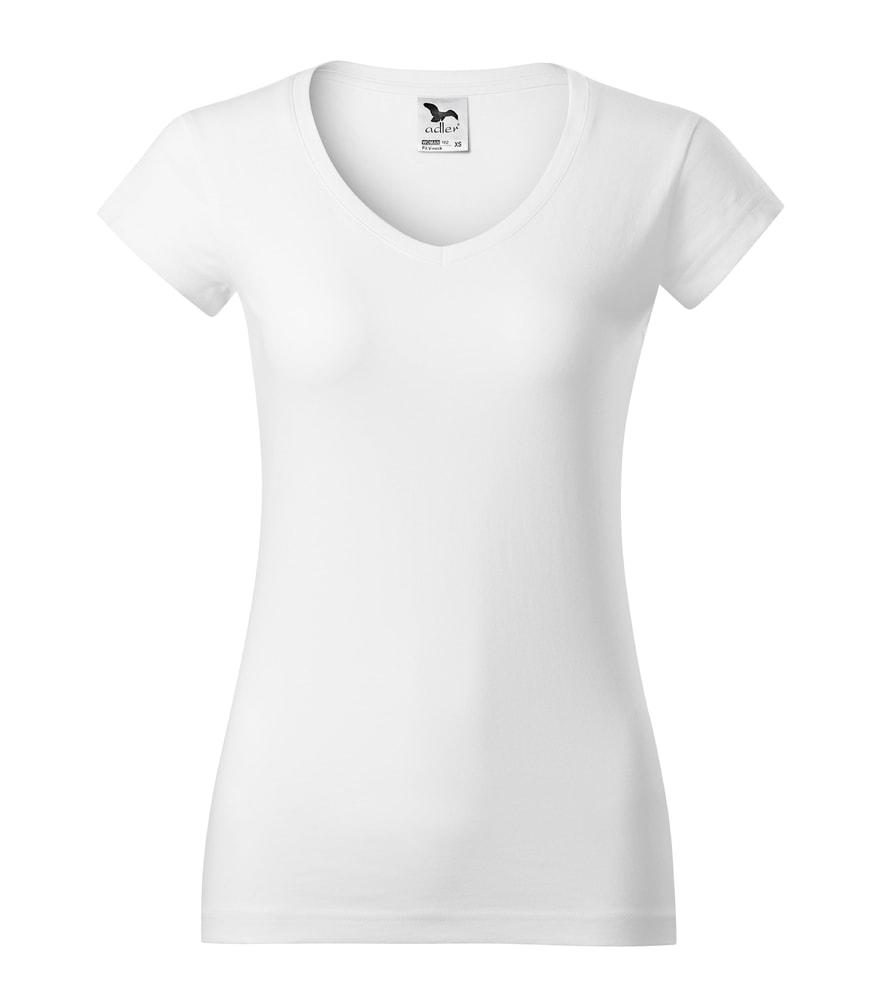 Adler Dámske tričko Fit V-neck - Bílá | M